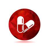 Pills web icon — Stock Vector