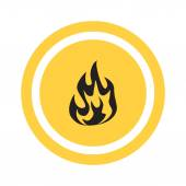 Fire flames icon — Stock Vector