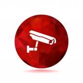 Sign CCTV, web icon — Stock Vector