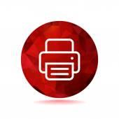 Kağıt web simgesi ile çalışma yazıcı — Stok Vektör