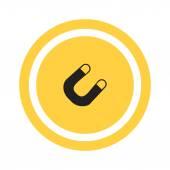 Loadstone web icon — Stock Vector