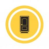 Icône de la porte fermée — Vecteur