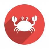 Doodle crab web icon — Stock Vector