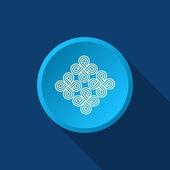 Pattern decor, web icon — Stock Vector