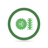 Wheel and tire web icon — Stock Vector