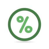 Simple percent symbol icon — Stock Vector