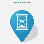 Sand clock web icon — Stock Vector