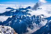 The mountains over the clouds — Stock Photo