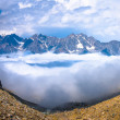 High up in the mountains above the clouds — Stock Photo #65719731