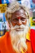 Hindu monk portrait in India, Goa — Stock Photo