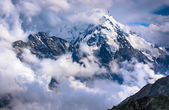A  mountains in the clouds — Stock Photo