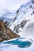 Glacier lake in the mountains — Stock Photo