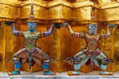 Sculptures of Rakshasa in Thailand — Stock Photo