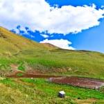 Постер, плакат: Little farm kosh in the Caucasus mountains