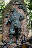 Sculptural monument on the grave of Vladimir Stasov — Stock Photo