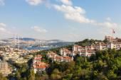 The Bosporus Bridge and Istanbul View — 图库照片