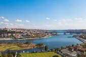 Beautiful view of Istanbul and the Golden Horn — Stock Photo