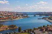Bridge over the Golden Horn in Istanbul — Stock Photo