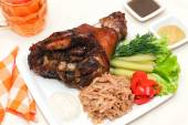 Roasted Pork Knuckle — Stock Photo