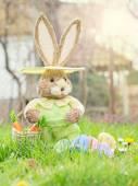 Easter Toy Rabbit - Bunny — Stock Photo