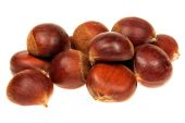 Fresh chestnut isolated 360 Degrees Concept — Stock Photo