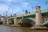 River Thames, London Southwark bridge — Stock Photo