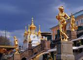 Fountains are off, Peterhof — Stock Photo
