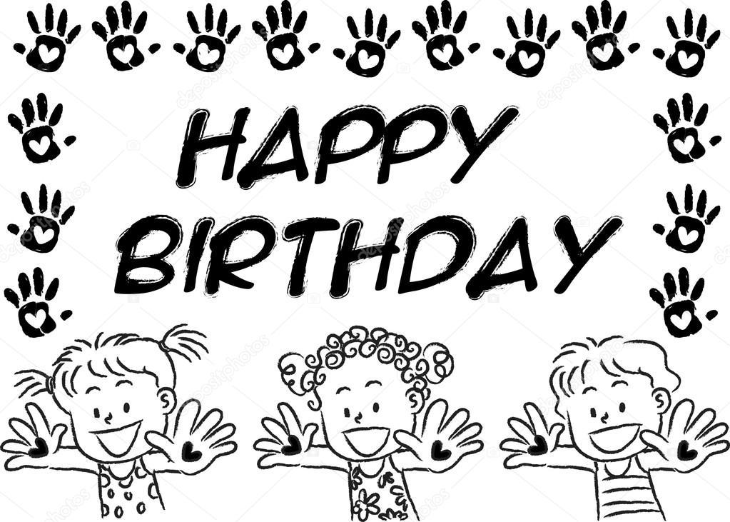 Cartoon Birthday Card Drawing Cartoon Drawing Kids With