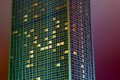 Skyscraper in Berlin at night — Stock Photo