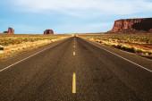 Empty road in desert — Stock Photo