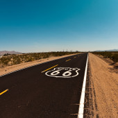 Route 66 sign on the road sign — Stock Photo