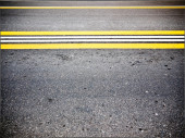 Two-lane road closeup — Stock Photo