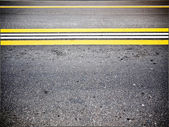 Two-lane road closeup — Stock Photo