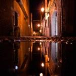 Old street in the Italian city at night — Stock Photo #70170449