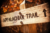 Appalachian trail sign — Stock Photo