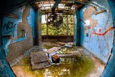 The interior of an abandoned hospital — Stock Photo