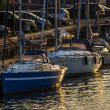 Three yachts and boats — Stok fotoğraf #66827249