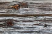 Fragment of the old country house of natural wooden timbers without coloring — Stock Photo