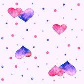 Vattenfärg hjärta — Stockvektor