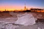 Зима и снег в Санкт-Петербурге — Zdjęcie stockowe