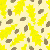 Acorn and oak leaf pattern — Stock Vector