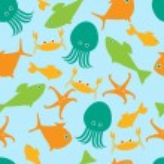 mořský život vzor — Stock vektor #67291973