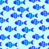 Pattern with colorful fish — Wektor stockowy