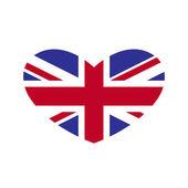 Union Jack Heart — Stock Vector