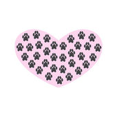 Heart with paw prints on white background — Stock Vector