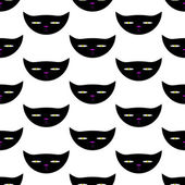 Pattern with dangerous cat head — Stock Vector