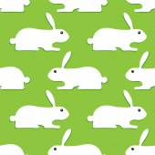 Background with opposite rabbits — Stock Vector