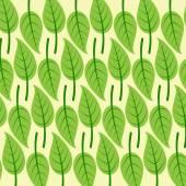 Yaprakları ile arka plan — Stok Vektör