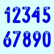 Funny numbers set — Stock Vector #72723943