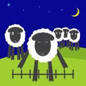 Jumping sheep — Stock Vector